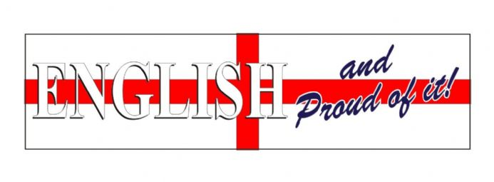 """English and Proud Of It"" England Car Bumper Sticker"